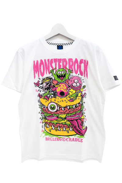 ROLLING CRADLE MONSTER ROCK COLLABORATION MEGA MONSTER BURGER  WHITE