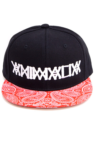 ANIMALIA AN15SP-CP01 SNAPBACK BLACK×RED PAISELY