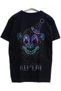 RIP DESIGN WORXX ピンストライプサーカスクラウンTシャツ BLK/BLK