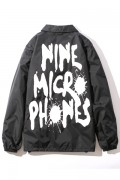NineMicrophones COACH JACKET-FAINT- BLACK