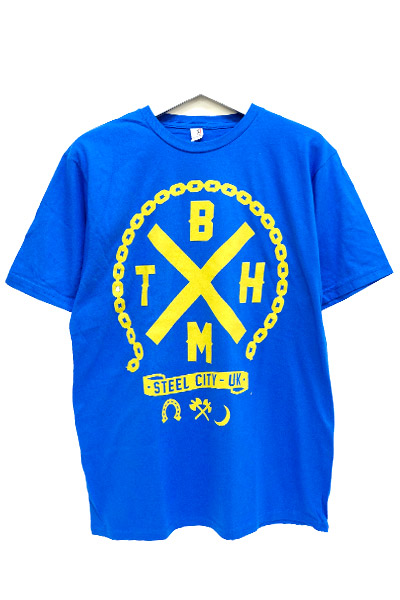 BRING ME THE HORIZON Steel City on blue t-shirt