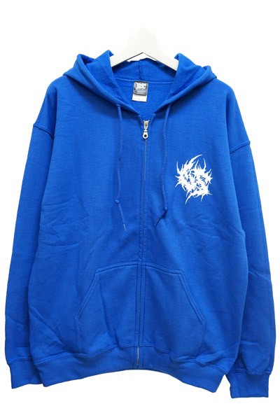 Gluttonous Slaughter (グラトナス・スローター) lnversion of Christ ZIP HOODIE BLUE