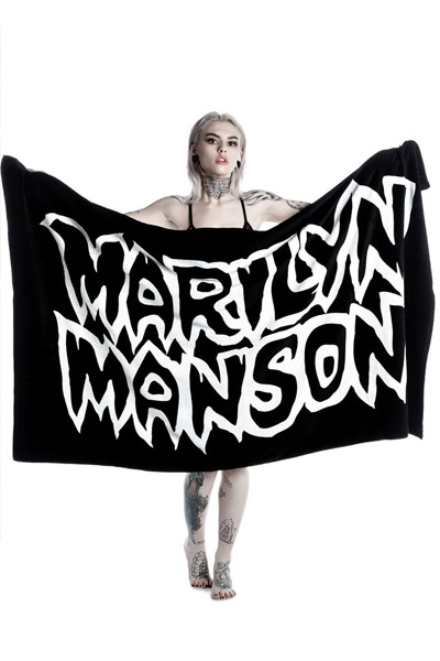 MARILYN MANSON×KILL STAR CLOTHING  Avoid The Sun Beach Towel