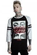 MARILYN MANSON×KILL STAR CLOTHING American Conspiracy Raglan Top