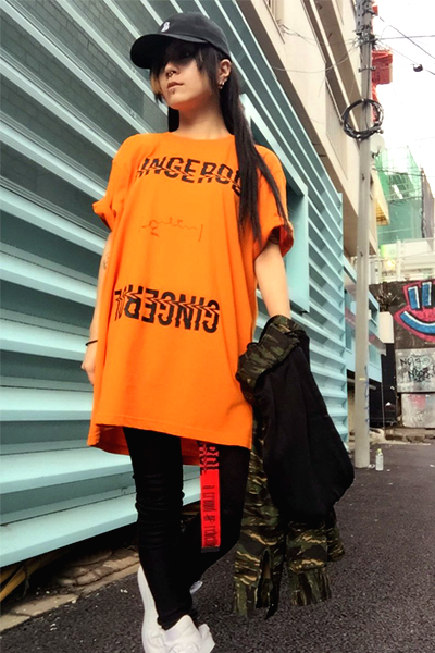 【ゲキクロ限定】 a crowd of rebellion Gingerol T-Shirt Orange