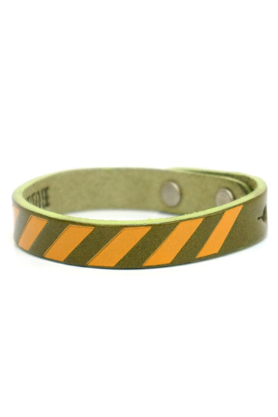 ROLLING CRADLE RC LEATHER WRIST BAND / Olive