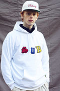 Subciety (サブサエティ) EMBROIDERY PARKA-kid- WHITE