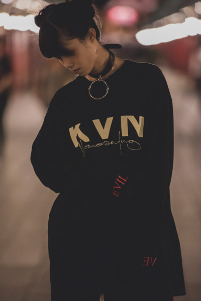 "KAVANE Clothing ""EVIL""LONG SLEEVE"