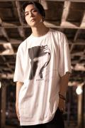 "【予約商品】KAVANE Clothing×DADAROMA 朋 ""SAVE MYSELF""OVERSIZE CUTSEW(Wht)"