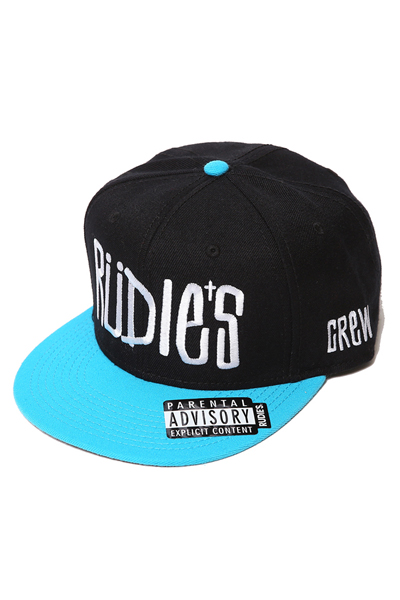 RUDIE'S DRAWING SNAPBACKCAP BLACK/SAX