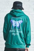 MUSIC SAVED MY LIFE (MSML) OVERSIZED BATTERFLY GRAPHIC HOODIE GREEN