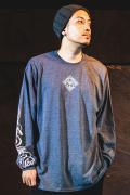 【予約商品】GoneR GR30LS002 Spiritus L/S T-Shirts Dark Heather