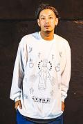 【予約商品】GoneR GR30LS001 Tattoo Flash L/S T-Shirts White