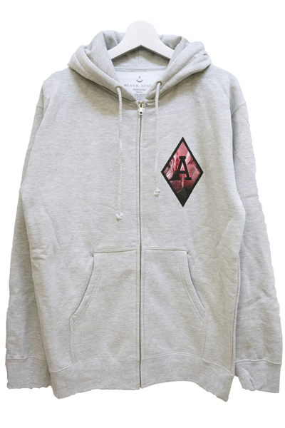BLACK SCALE BLVCK REBELS ZIP HOODIE GREY