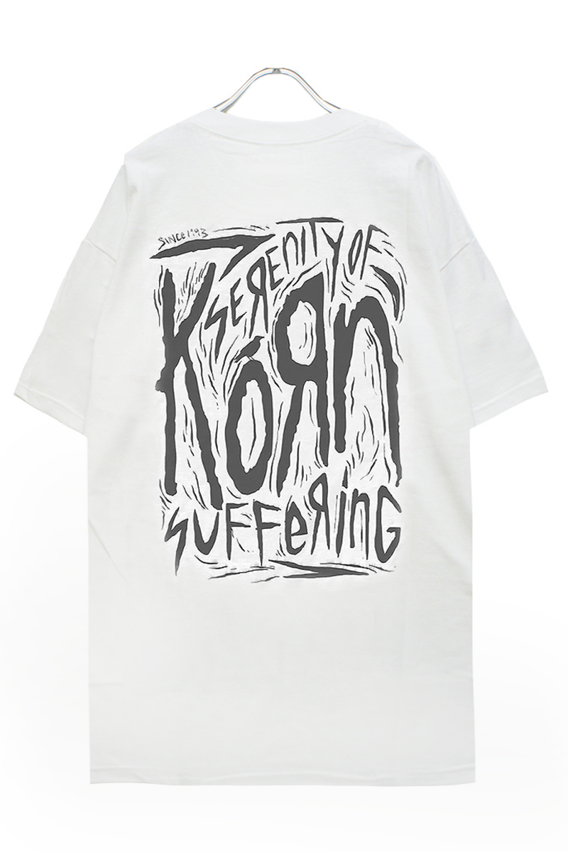 KORN UNISEX TEE: SCRATCHED TYPE (BACK PRINT)
