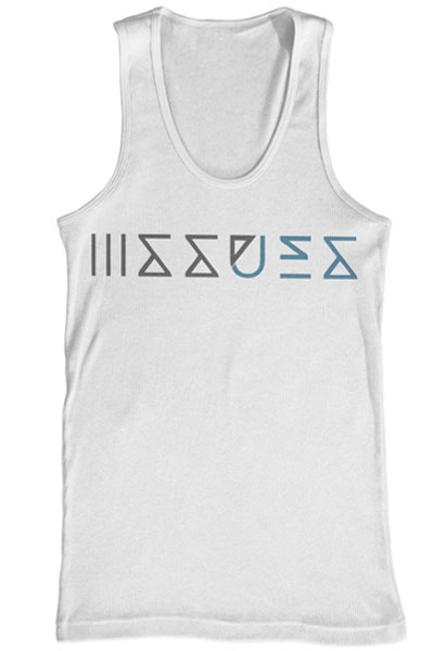 ISSUES Logo White Tank Top