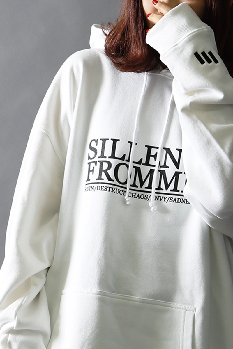 SILLENT FROM ME COVER -Pullover- WHITE