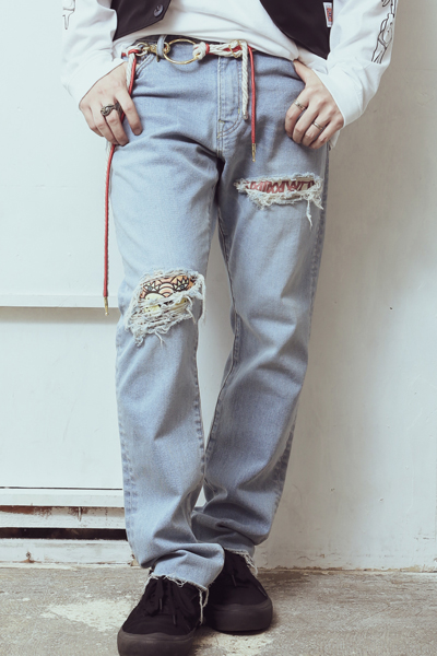 ANIMALIA AN19M-PT01 JEANS BRONCO No.7 L.BLUE