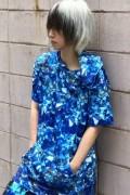 NieR ポケット付き半袖パーカー【Diamond BLUE】