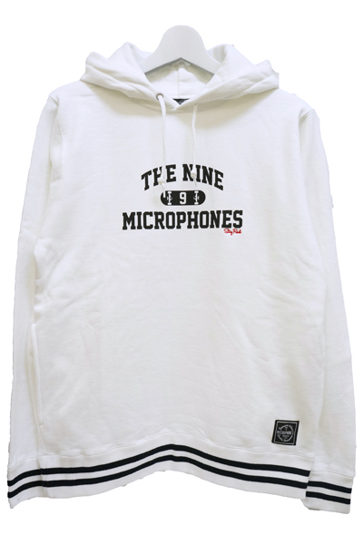 NineMicrophones (ナインマイクロフォンズ) LINE PARKA-Skate College- WHITE