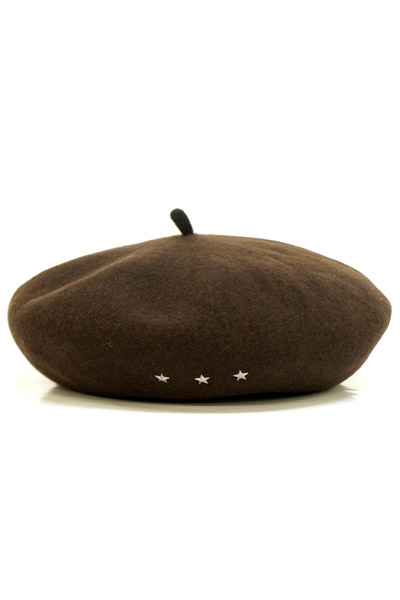Zephyren (ゼファレン) STAR STUDS BERET BROWN