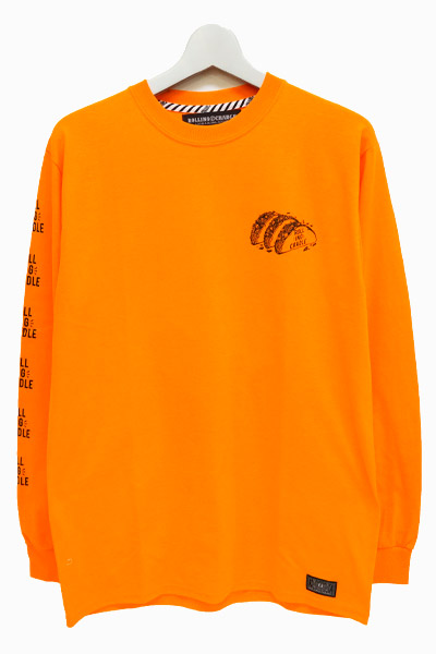 ROLLING CRADLE DELICIOUS TACOS LONG T-SHIRT / Orange