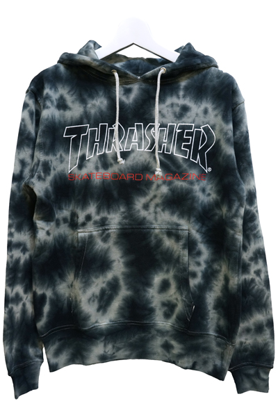 THRASHER TH8501TD2 MAG LOGO HOODIE WHT/RED