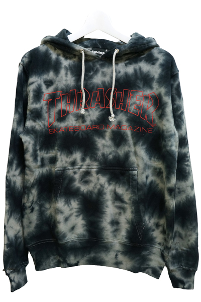 THRASHER TH8501TD2 MAG LOGO HOODIE RED/RED