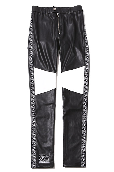 SILLENT FROM ME HOOKY -Legging Pants- BLACK/WHITE