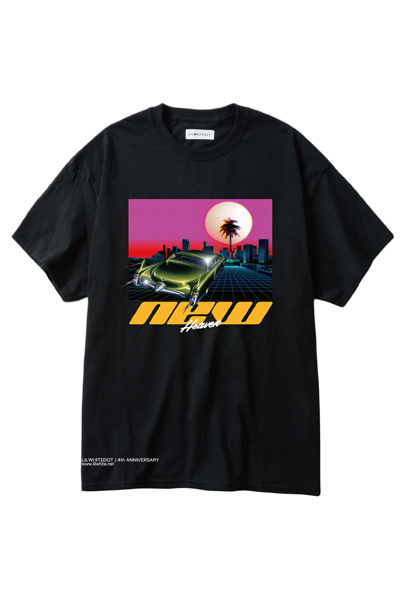 LILWHITE(dot) (リルホワイトドット) LW-4TH-T01 -NEW HEAVEN- TEE BLACK