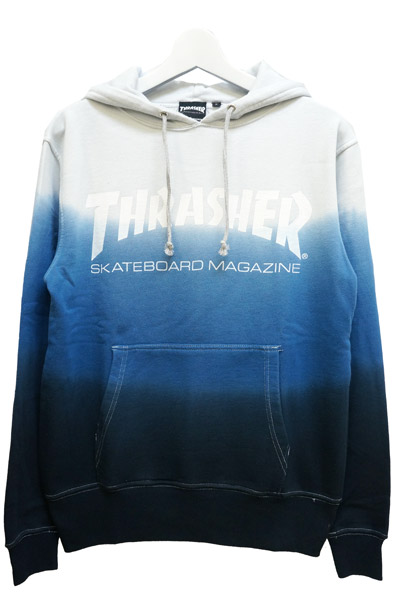 THRASHER TH8501SD2 MAG LOGO HOODIE NAVY