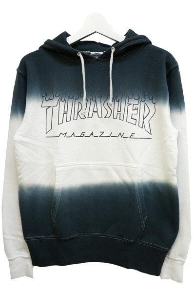 THRASHER TH8508SD2 FLAME LOGO HOODIE BLK