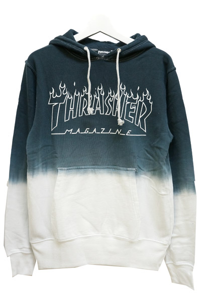 THRASHER TH8508SD2 FLAME LOGO HOODIE GRAY