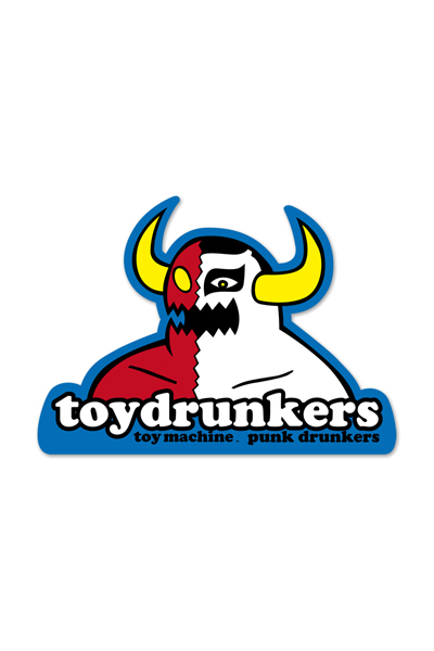 PUNK DRUNKERS [PDSxTOY MACHINE]MONSTERxあいつステッカー WHITE