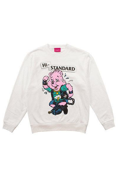 Hi-STANDARD×MISHKA EXWDHS01C BEAR GUY SWEAT WHT