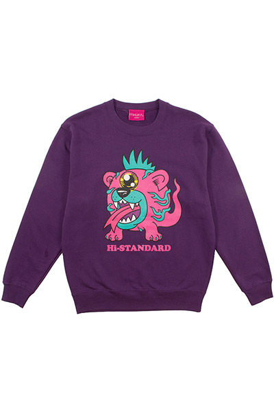 Hi-STANDARD×MISHKA EXWDHS03C MONSTER SWEAT PUR
