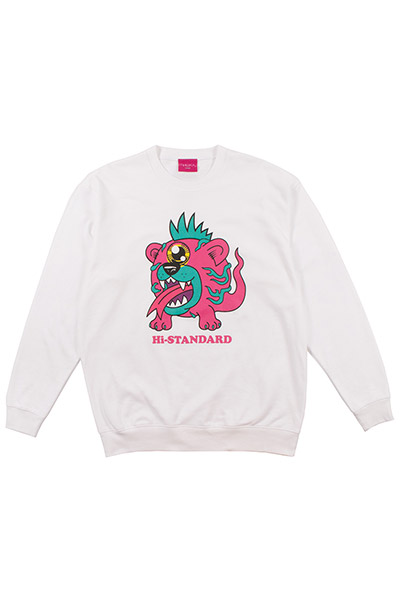 Hi-STANDARD×MISHKA EXWDHS03C MONSTER SWEAT WHT