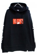 TOY MACHINE TMF18SW9 SQUARE MONSTER SWEAT PARKA BLACK