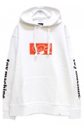 TOY MACHINE TMF18SW9 SQUARE MONSTER SWEAT PARKA WHITE