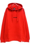 TOY MACHINE TMF18SW7 TAPE LOGO SWEAT PARKA RED