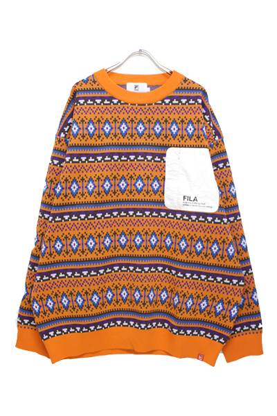 FILA FM9679 SWEATER ORANGE