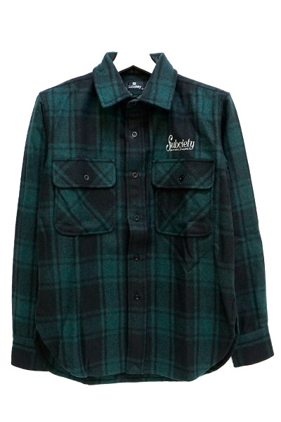 Subciety (サブサエティ) CPO SHIRT-rockabilly- GREEN