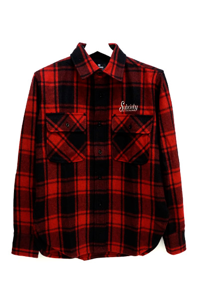 Subciety (サブサエティ) CPO SHIRT-rockabilly- RED