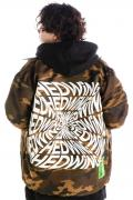 HEDWiNG HD7-011 Blackhole Logo Coach Jacket Camo