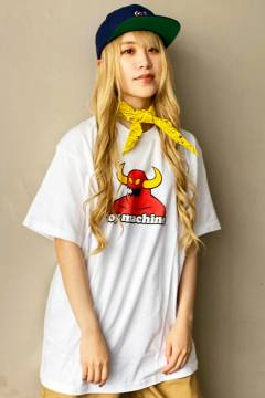 TOY MACHINE TMS20ST9 TOYMONSTER LOGO PRINT SS TEE WHITE