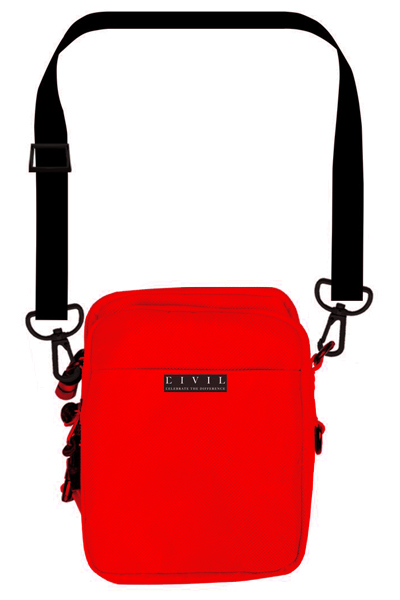 Civil Regime Cross Body Bag In Red