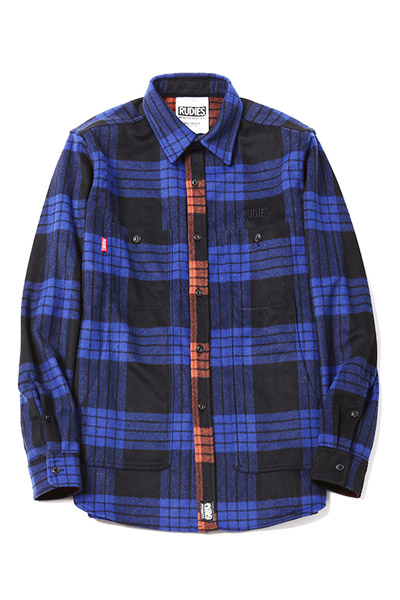 RUDIE'S PHAT CHECK SHIRTS BLUE