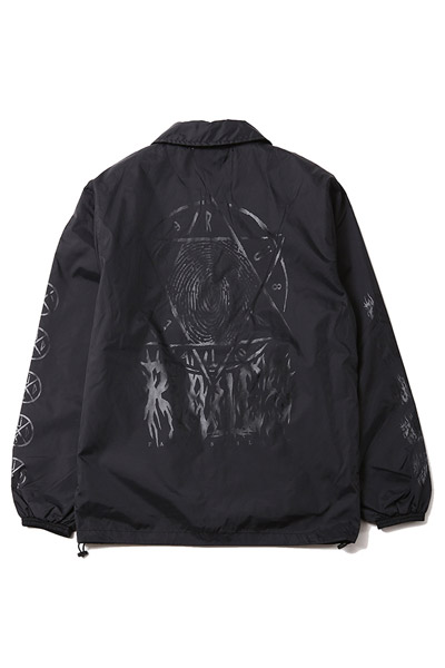 RUDIE'S HEXAGRAM VICE COACH JACKET BLACK/CLEAR
