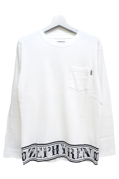 Zephyren (ゼファレン) L/S TEE -Over the line- WHITE-CREW