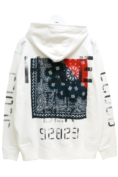 Zephyren (ゼファレン) ZIP PARKA -Inhale the black- WHITE
